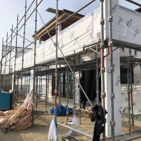 岡山市保育園工事進捗状況。