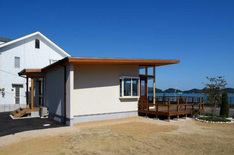 玉野海沿いの別荘